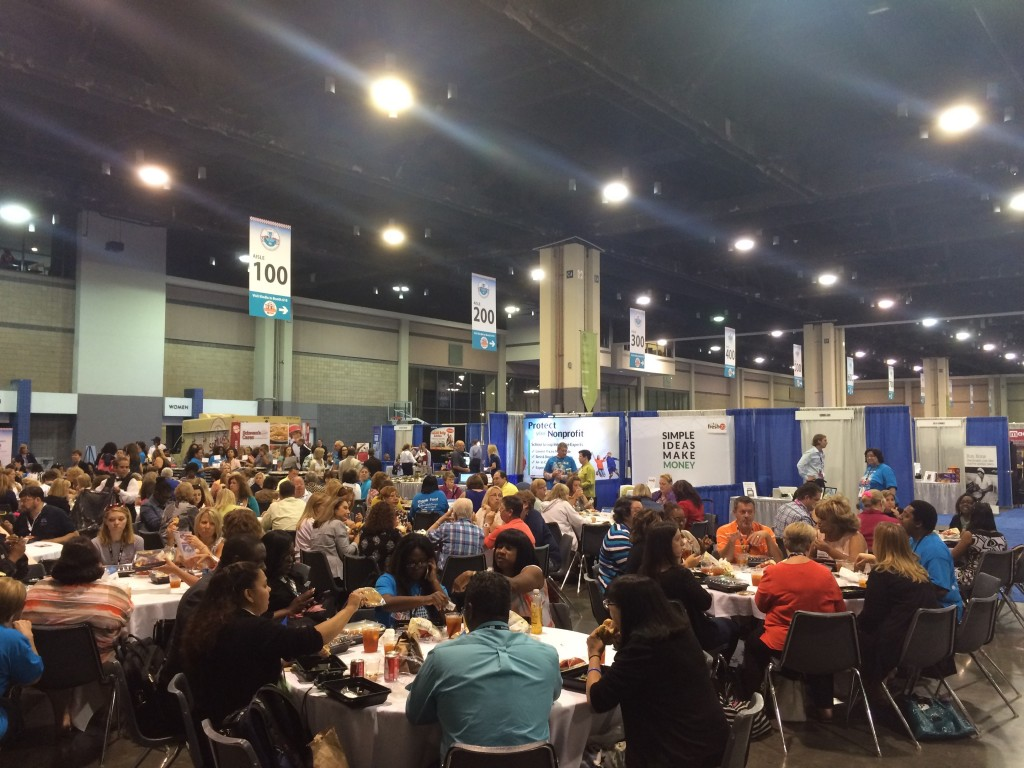 The convention hall was a buzz at the 2015 National PTA Convention